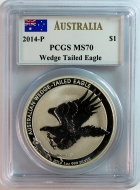 Australien 1 Dollar Wedge Tailed Eagle 2014 P- MS 70